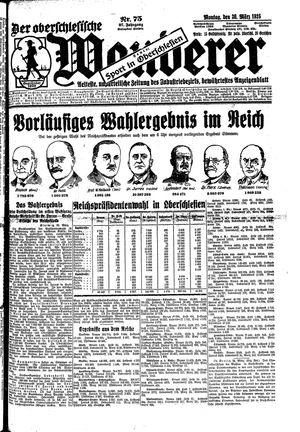 ˜Derœ Oberschlesische Wanderer vom 30.03.1925