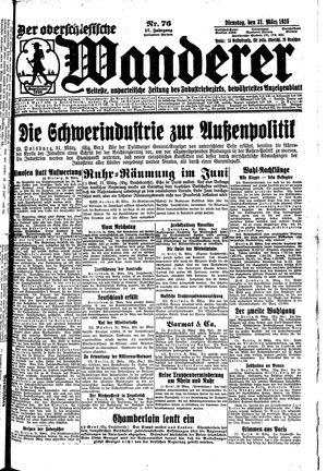 ˜Derœ Oberschlesische Wanderer vom 31.03.1925