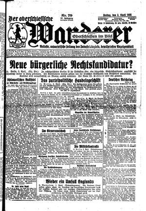 ˜Derœ Oberschlesische Wanderer vom 03.04.1925
