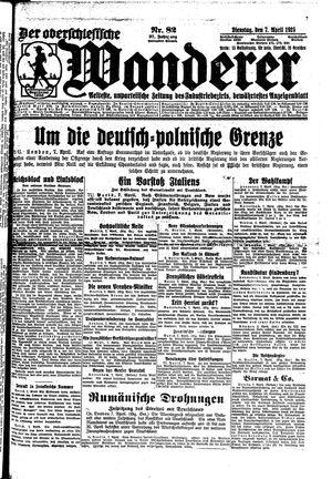 ˜Derœ Oberschlesische Wanderer vom 07.04.1925