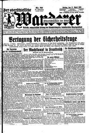 ˜Derœ Oberschlesische Wanderer on Apr 17, 1925