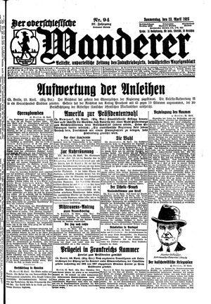 ˜Derœ Oberschlesische Wanderer vom 23.04.1925