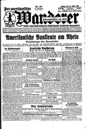 ˜Derœ Oberschlesische Wanderer vom 24.04.1925