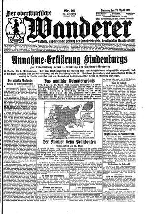 ˜Derœ Oberschlesische Wanderer vom 28.04.1925
