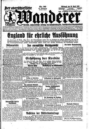 ˜Derœ Oberschlesische Wanderer vom 29.04.1925