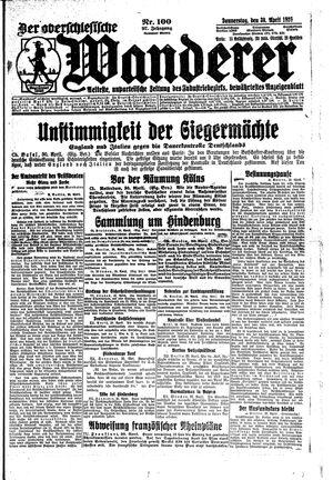 ˜Derœ Oberschlesische Wanderer vom 30.04.1925
