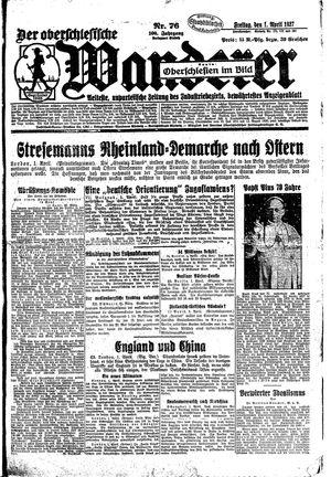 ˜Derœ Oberschlesische Wanderer vom 01.04.1927