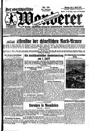 ˜Derœ Oberschlesische Wanderer vom 04.04.1927
