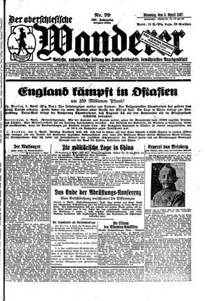 ˜Derœ Oberschlesische Wanderer vom 05.04.1927