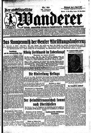 ˜Derœ Oberschlesische Wanderer vom 06.04.1927