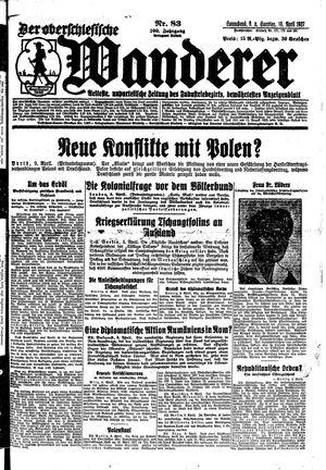 ˜Derœ Oberschlesische Wanderer vom 09.04.1927