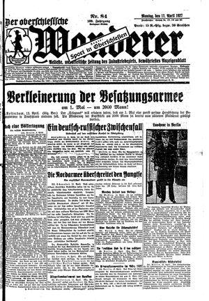 ˜Derœ Oberschlesische Wanderer vom 11.04.1927