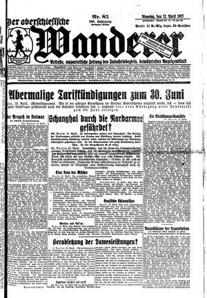 ˜Derœ Oberschlesische Wanderer vom 12.04.1927