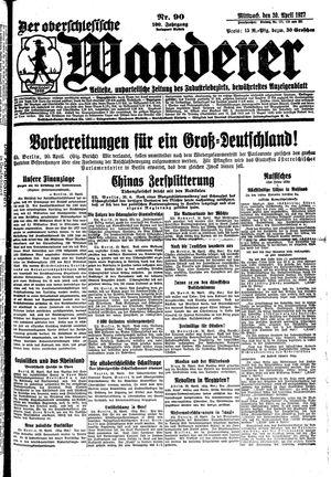 ˜Derœ Oberschlesische Wanderer vom 20.04.1927