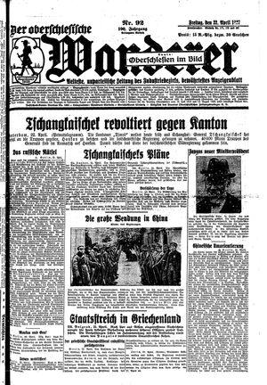 ˜Derœ Oberschlesische Wanderer vom 22.04.1927