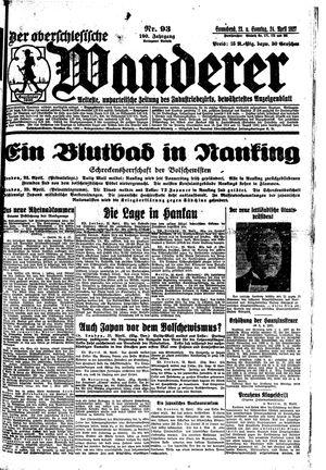˜Derœ Oberschlesische Wanderer vom 23.04.1927