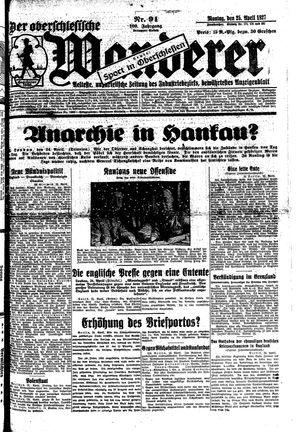 ˜Derœ Oberschlesische Wanderer vom 25.04.1927