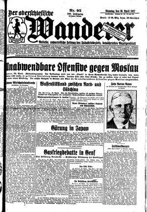 ˜Derœ Oberschlesische Wanderer vom 26.04.1927