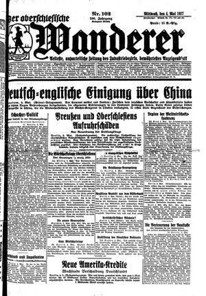 ˜Derœ Oberschlesische Wanderer vom 04.05.1927