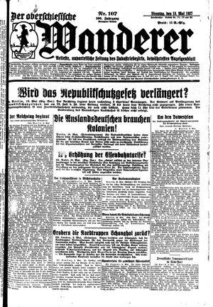 ˜Derœ Oberschlesische Wanderer vom 10.05.1927