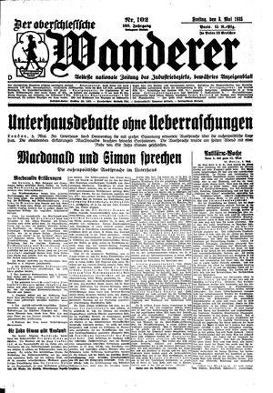 ˜Derœ Oberschlesische Wanderer vom 03.05.1935