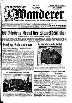 ˜Derœ Oberschlesische Wanderer vom 15.05.1935