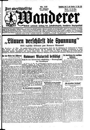 ˜Derœ Oberschlesische Wanderer vom 18.05.1935