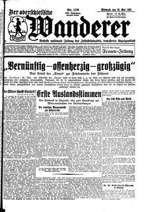˜Derœ Oberschlesische Wanderer vom 22.05.1935