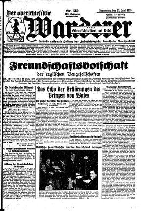 ˜Derœ Oberschlesische Wanderer vom 13.06.1935