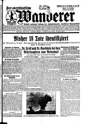 ˜Derœ Oberschlesische Wanderer vom 15.06.1935