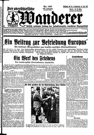 ˜Derœ Oberschlesische Wanderer vom 19.06.1935