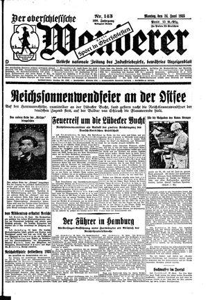 ˜Derœ Oberschlesische Wanderer vom 24.06.1935