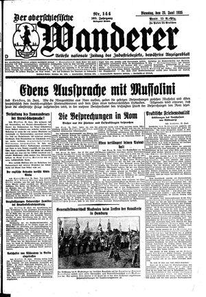 ˜Derœ Oberschlesische Wanderer vom 25.06.1935