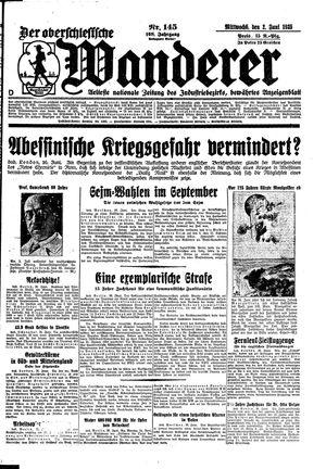 ˜Derœ Oberschlesische Wanderer vom 26.06.1935