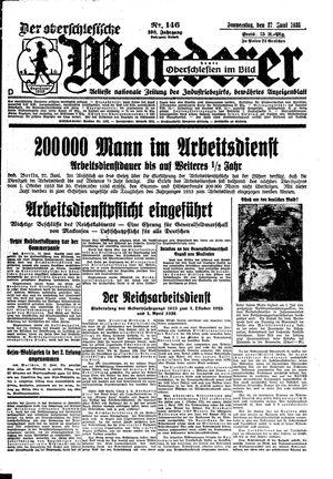 ˜Derœ Oberschlesische Wanderer vom 27.06.1935