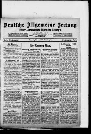 Deutsche allgemeine Zeitung vom 02.01.1919