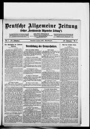 Deutsche allgemeine Zeitung vom 04.01.1919