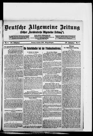 Deutsche allgemeine Zeitung vom 05.01.1919