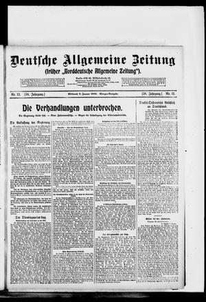 Deutsche allgemeine Zeitung vom 08.01.1919