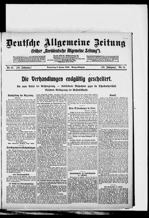 Deutsche allgemeine Zeitung vom 09.01.1919