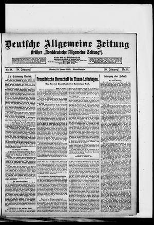 Deutsche allgemeine Zeitung vom 13.01.1919