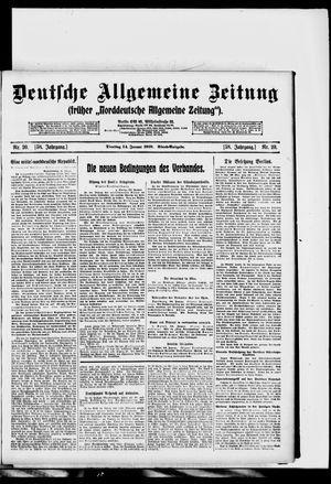 Deutsche allgemeine Zeitung vom 14.01.1919