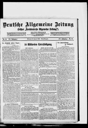 Deutsche allgemeine Zeitung vom 15.01.1919