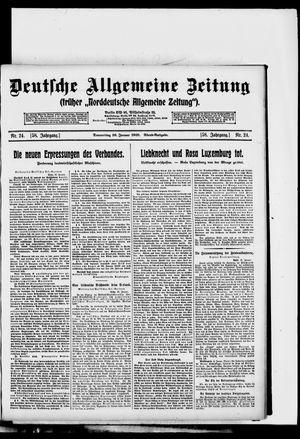 Deutsche allgemeine Zeitung vom 16.01.1919
