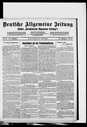Deutsche allgemeine Zeitung vom 17.01.1919