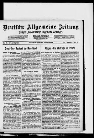 Deutsche allgemeine Zeitung vom 18.01.1919