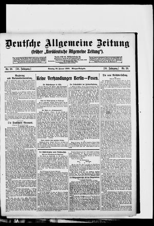 Deutsche allgemeine Zeitung on Jan 19, 1919