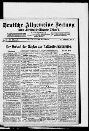 Deutsche allgemeine Zeitung vom 20.01.1919