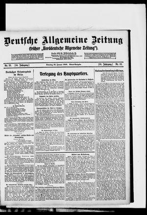 Deutsche allgemeine Zeitung vom 21.01.1919