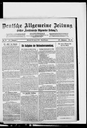Deutsche allgemeine Zeitung vom 22.01.1919